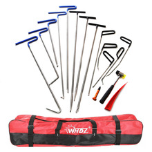 цена на WHDZ 13Pieces Auto Body Dent Removal Pdr Rod Tool Kit- Hail and Door Ding Repair Starter Set (ABC) Wedge Hook