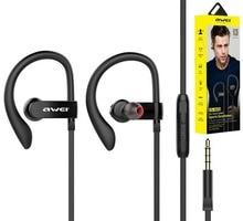 Awei NEWEST ES-160i cuffie corsa sport microfono volume clip per smartphone