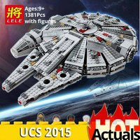 2015 LELE star wars 79211 Falcon spaceship Assembling building blocks Compatible legoings 10467 Educational Toys christmas Gift