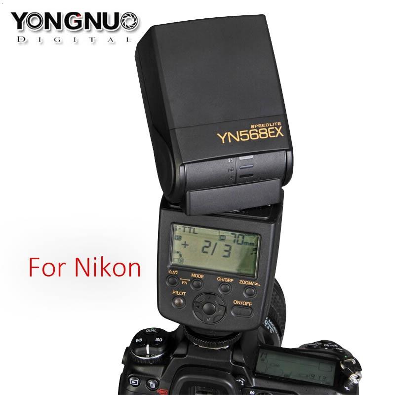 YONGNUO YN568EX YN-568EX TTL HSS Flash Speedlite For Nikon D800 D750 D700 D610 D7200 D7100 D7000 D5300 D5200 D3200 D3100 D90 D80 yn e3 rt ttl radio trigger speedlite transmitter as st e3 rt for canon 600ex rt new arrival