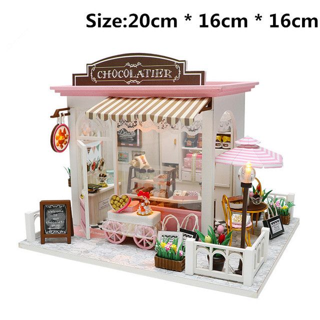 Diy Doll House Toy Wooden Miniatural Houses For Lol Doll Toys