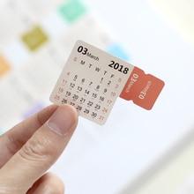 8pcs pack 2018 2019 Calendar Sticker Notebook Index Monthly Category Sticker Planner Accessories Slip Sheet