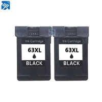 Arriba de 2PK tinta negra recambios de cartuchos para HP63 63XL envidia 4520 de 4526 HP Officejet 3830 3833 4650 Deskjet serie 3630, 3632, 3636, 3634