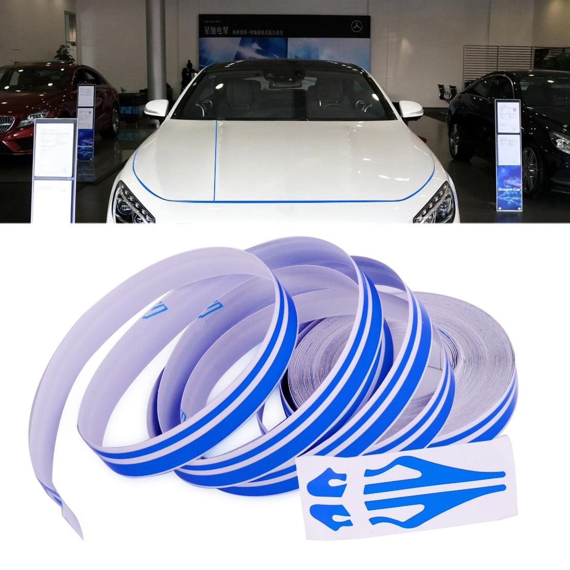 Citall 12mm X 980cm Car Body Striping Sticker Double Line
