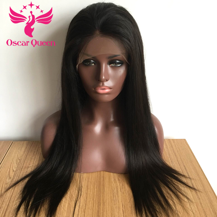 "250% Malaysian Straight Lace Front Human Hair Wigs 4*4 With Baby Hair For Black Women 100% Remy Human Hair 10-20"" Natural Color"