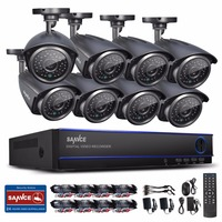 ANNKE 16CH AHD 1080N DVR With 8 Pcs 720P IR CUT CCTV Security Camera System