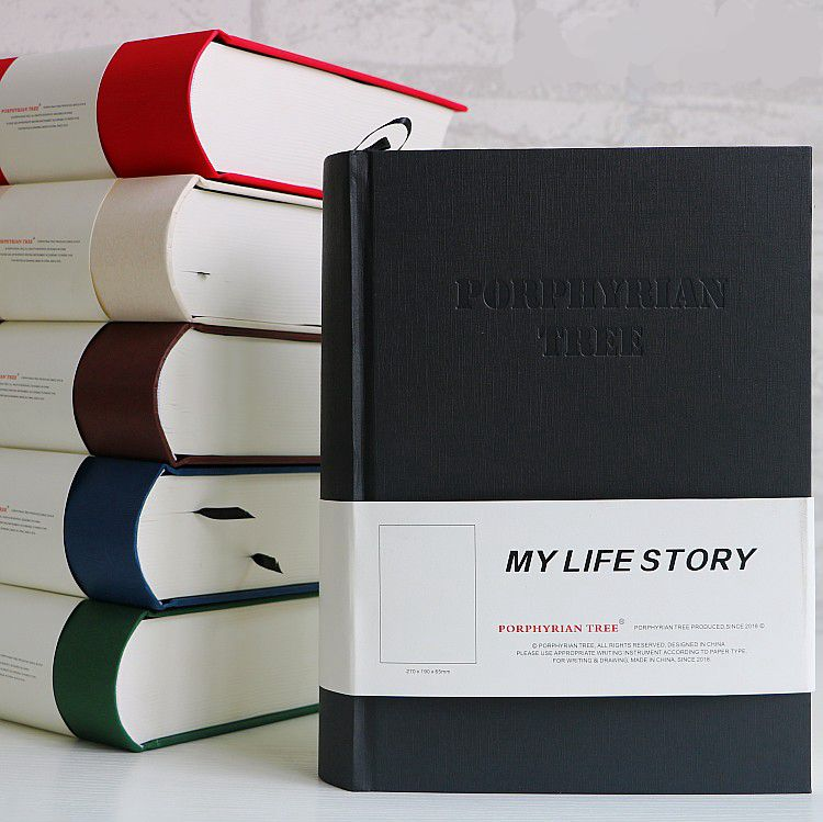 My Life Story Thick Dictionary Design White Blank Paper Diary Book Notebook B5 960 Pages Sketchbook