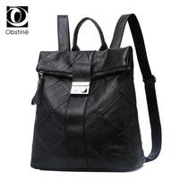 Casual High Quality Pu Leather Backpack Women Galaxy Designer Back Pack Patchwork Black Rucksacks For Girls
