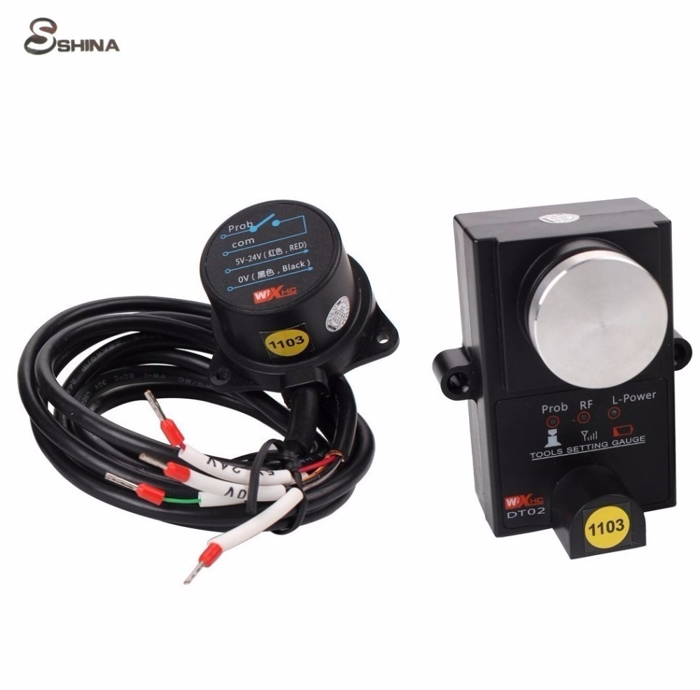 ФОТО High Accuracy DT02 Universal CNC Router Machine Wireless Tool Setting Gauge Presetter Controller  1 Micron (Mach3, Weihong,etc)