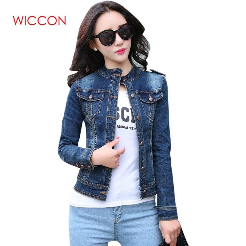 Fashion New Arrival Women's Denim Jackets Vintage Casual Single Breasted Coat Female Jean Jacket For Outerwear Women Basic Coats