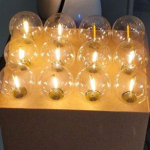 Image 5 - G40 Led ストリングライト 18Ft 12 個 LED グローブ電球 E12 220V 110 用パティオガーデンパーティー結婚式外側の装飾 2 スペア電球
