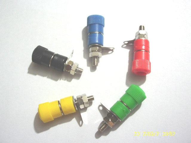 imágenes para 100 unids x 5 Color Encuadernación Altavoz Mensaje 4mm Banana Plug