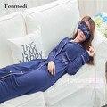 Camisones Mujer Otoño Largo Camisón Modal Manga Larga Noche-Traje ropa de Dormir Cardigan Salón del Sueño de Las Mujeres Sleepshirts