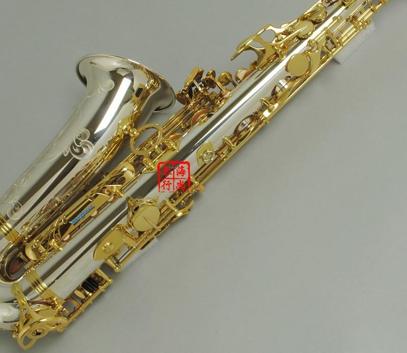 2018 NEW Alto Saxophone YANAGISAWA A-WO37 Nickel Plated Gold Key Professional YANAGISAWA Super Play Sax Mouthpiece With Case