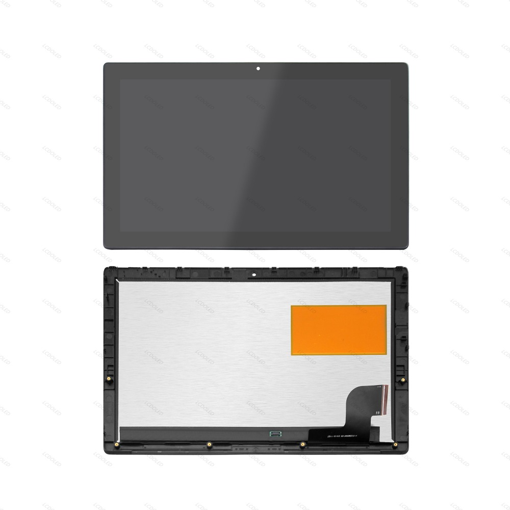 Full LCD Screen Display Touch Glass Digitizer Assembly with Frame Bezel For LenovoMiix 510 12IKB 80XE