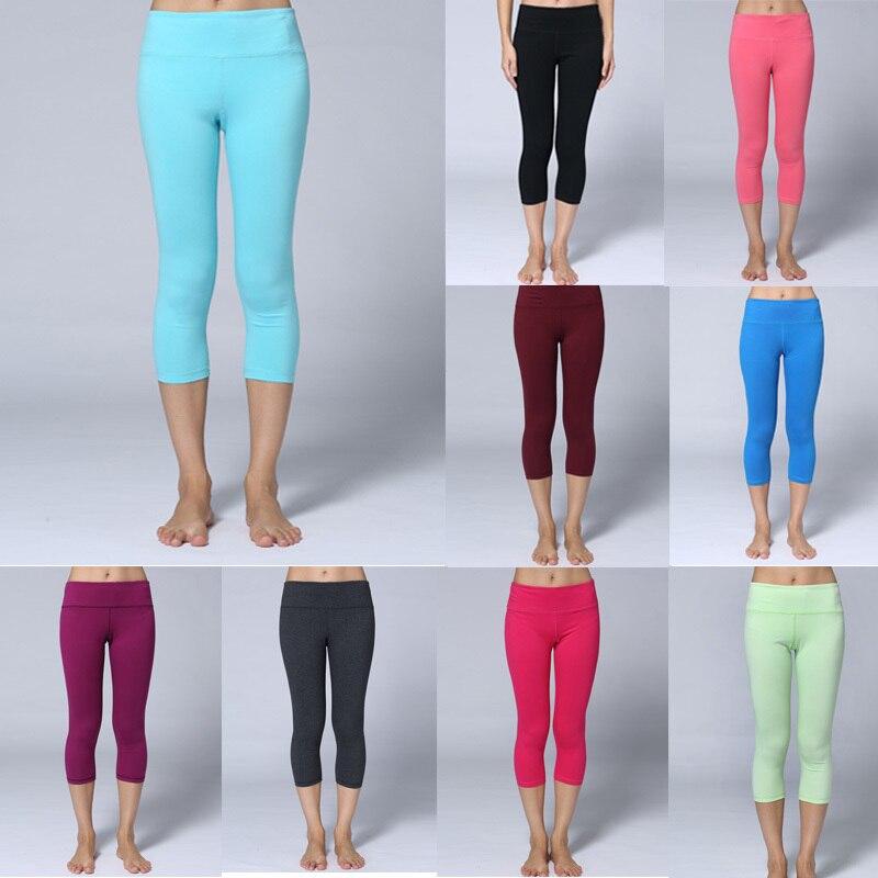 Gym Mats At Mr Price Sport: Women Candy Color Capris Front Waist Key Pocket Slim Tight