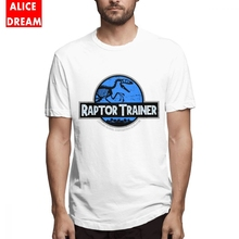 Jurassic Park World Raptor Trainer T-shirt Mens Quality Retro Stylish Tee Cotton Big Size Homme T Shirt