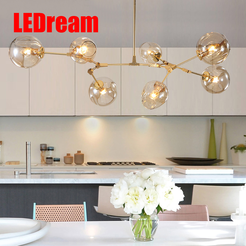 The living room chandelier glass chandelier less creative personality art droplight Nordic light postmodern bubble droplight vintage clothing store personalized art chandelier chandelier edison the heavenly maids scatter blossoms tiny cages
