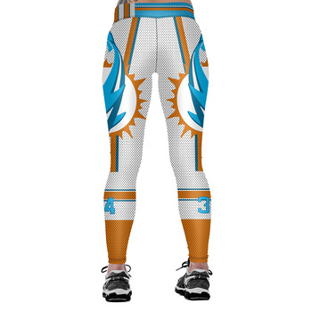 Unisex Football Team Dolphins 34 Tight Pants Workout Gym Training Running Yoga Sport Fitness Exercise Leggings Dropshipping 1