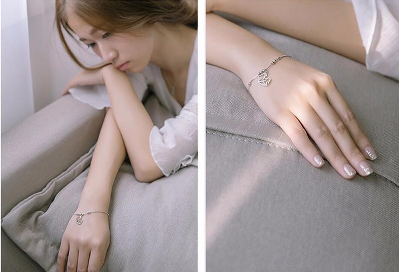 silver charm anklet or bracelet model3