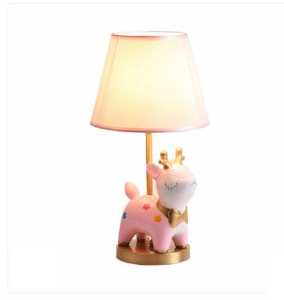 Simple modern cartoon childrens copper table lamp creative art decoration boys and girls bedroom deer style LED bedside lampSimple modern cartoon childrens copper table lamp creative art decoration boys and girls bedroom deer style LED bedside lamp