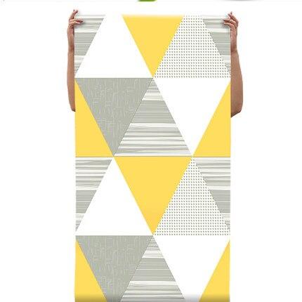 Купить с кэшбэком PAYSOTA Caribbean Style Nordic Gray Geometric Pattern Living Room Wallpaper Modern Bedroom TV Background Wall Paper Roll