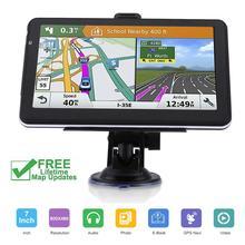 7 дюймов gps-навигатор для машины навигатор Навител FM256MB спутниковой навигации автомобиля грузовик gps Навигатор автомобиля аксессуары 2019 с новейшей картой