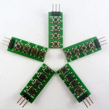 5PCS 3-5V 4 Buttons AD Keypad keyboard Analog output button for Arduino nano uno raspberry pi 3 breadboard stm32 starter kit