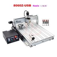 LY 8060Z USB 4 Axis 2 2KW With Mach3 Remote Control Mini CNC Milling Machine