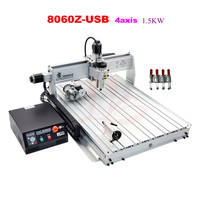 LY 8060Z USB 4 Axis 2 2KW With Mach3 Remote Control Mini CNC Milling Machine