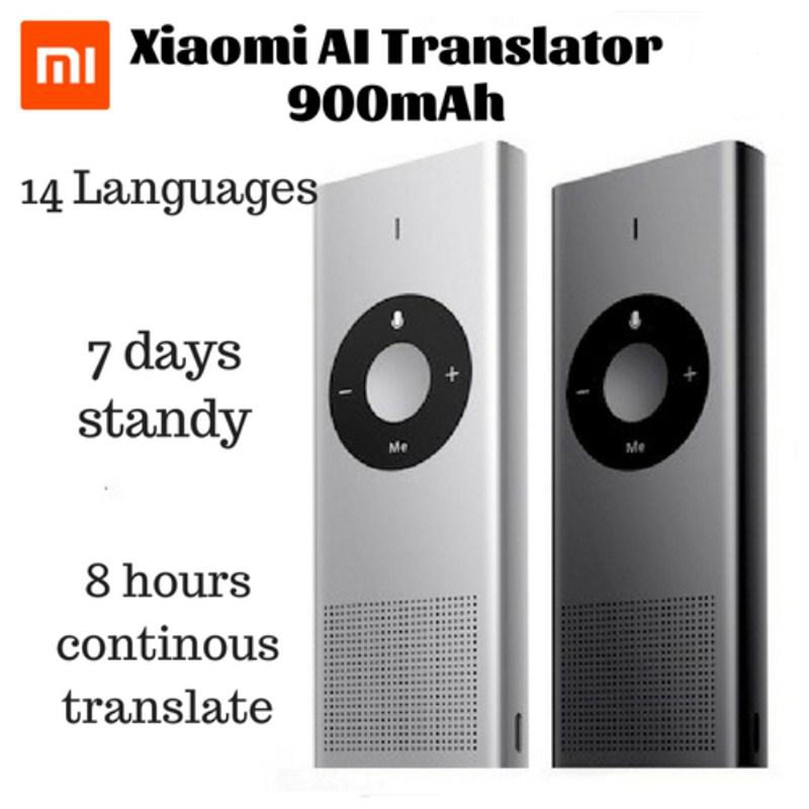 Xiaomi Moyu AI Translator For Travel Study Work 14 Languages Microsoft Translation Engine 7 Days Standby 8H Translate Machine