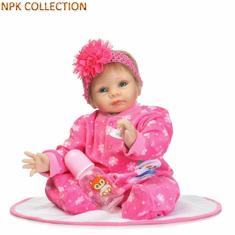 NPK COLLECTION Reborn Babies Boneca Dolls Baby Alive Toys for Girls Gifts,20 Inch 55CM Silicone Reborn Baby Dolls Brinquedos bigbang alive 2012 making collection repackage release date 2013 5 22 kpop