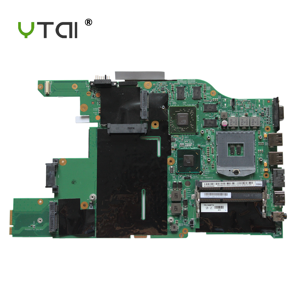 YTAI HD6630M for Lenovo ThinkPad E520 Laptop Motherboard FRU:04W0724 HM65 HD6630M DDR3 Mainboard fully Tested