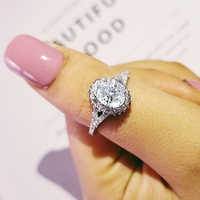 New 925 Sterling Silver Engagement Ring Genuine Pure 925 Sterling Silver Jewelry Fashion Set For Wedding personalized R4205
