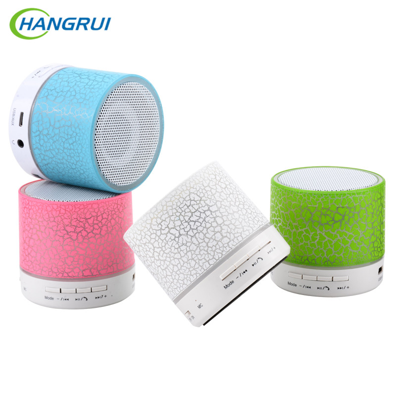 HANGRUI A9 Bluetooth Speaker Mini Wireless Loudspeaker LED TF USB Subwoofer bluetooth Speakers mp3 stereo audio music player portable mini led bluetooth speakers wireless small music audio tf usb fm light stereo sound speaker for phone xiaomi with mic