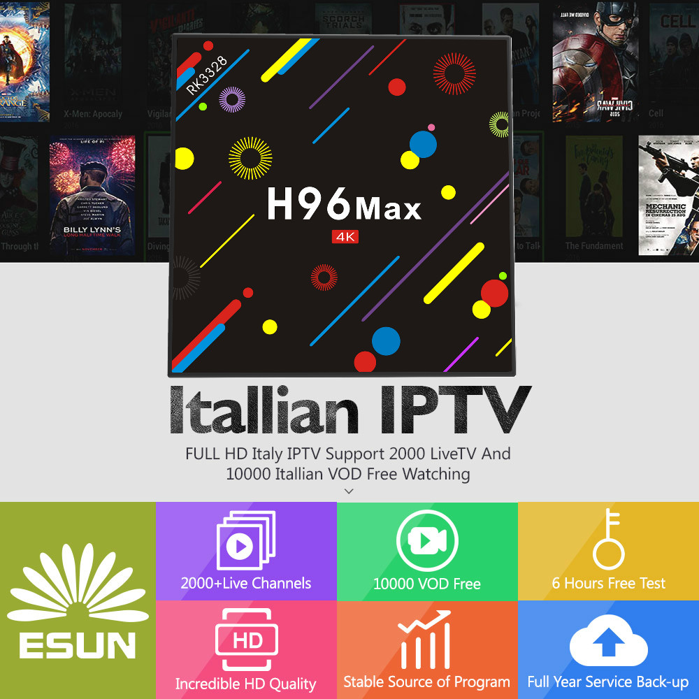 1 Year Super IPTV Lucky IPTV Italy IPTV EPG in H96 MAX H2 3000 Live Channel