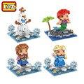 LOZ Ariel Princesa Elsa Anna Olaf Boneca de Brinquedo Bloco de Construção Modelo Adorno Decoração Presente Original Caixa de Varejo Por Atacado