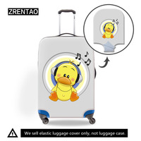 Children Cartoon Travel Luggage Suitcase Protective Dust Covers Box Sets Travel Accessories Apply To 18 To 32 Inch Trunk Cases