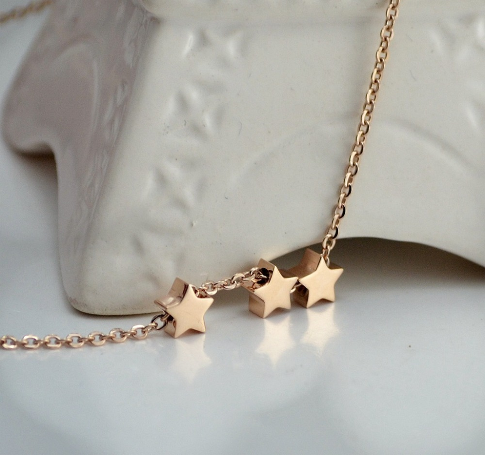 Three wishes triple star pendant necklace clavicle chains fashion three wishes triple star pendant necklace clavicle chains fashion statement necklace women fomalhaut jewelry in pendant necklaces from jewelry accessories aloadofball Image collections