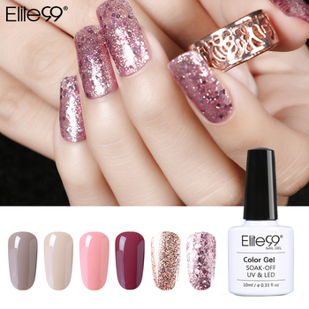 Elite99 Gel Polish Set Semi Permanent Vernis top mantel UV LED Gel Lack Nude gold shinning bling Nail art Gel nagellack