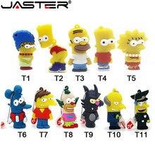 JASTER USB 2.0 Bart Simpson Mouse Wolf 4GB 8GB 16GB 32GB 64GB Memory Stick U Disk PenDrive Homer Pen Drive USB Flash Drive