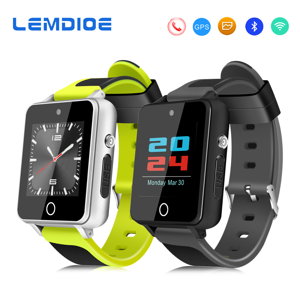 LEMDIOE Smart Watch Android Phone 1GB 16GB / 512MB 4GB MTK6580 2.0MP Camera 3G Smartwatch Support WiFi GPS SIM Card for Men цена