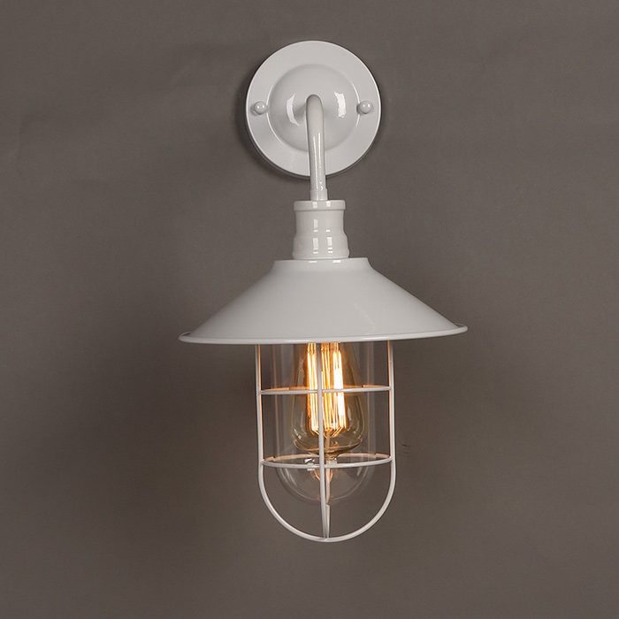Us 75 05 5 Off Vintage Style Edison Bulb 1 Light Wall Sconce And Clear Glass Shade Brushed Nickel Finish In Led Indoor Wall Lamps From Lights