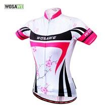 WOSAWE Summer Sports Women Short Sleeve Cycling Jerseys Bike Bicycle Jersey Quick-dry Outdoor Sports Shirt, Pink