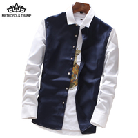 2018 New Men Brand Spring Autumn Features Shirts Men Casual Shirt Long Sleeve M 4XL Shirts
