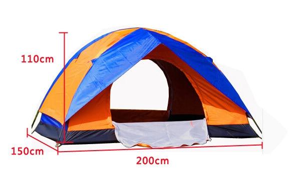 ФОТО Brand New wear-resistant waterproof pe bottom 3 Seasons Waterproof UV Outdoor Hiking double resident Camping Tent