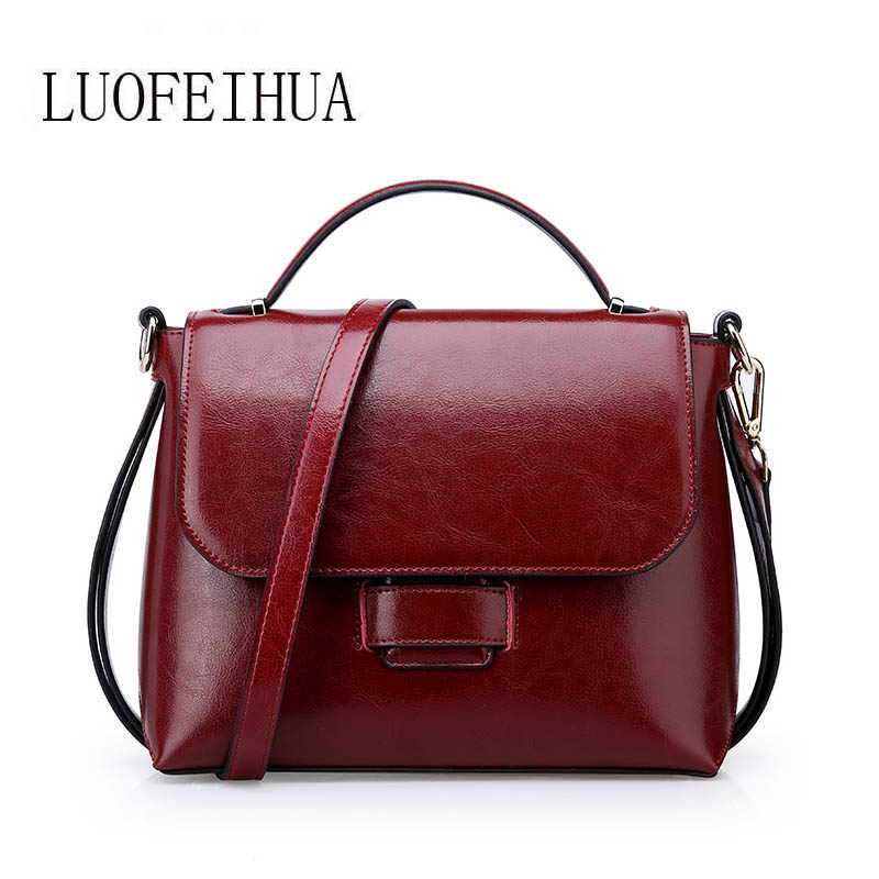 LUOFEIHUA  2018 new womens bag Casual wild handbag Leather casual shoulder messenger bag Small square packageLUOFEIHUA  2018 new womens bag Casual wild handbag Leather casual shoulder messenger bag Small square package