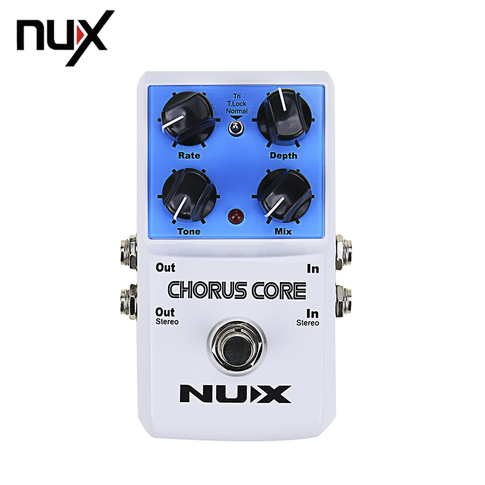 NUX CHORUS CORE Multi Modulation Guitar Effects Pedal Chorus Flanger Phase Lock Preset Function True Bypass nux pmx 2 multi channel mini mixer 30