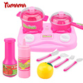 Tumama Toys & Games Pretend Play 13-24pcs Plastic Kids Children Kitchen Utensils Food Cooking Pretend Play Set Toy Action Toys