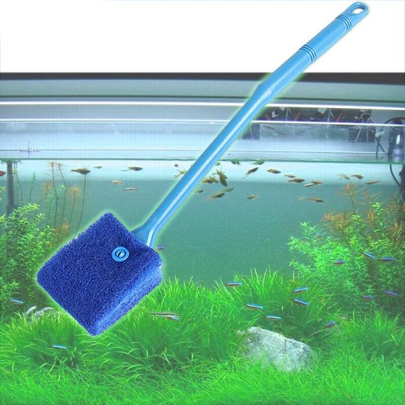 OWDBOB Aquarium Fish Tank Cleaning Brush Plant Algae Cleaner Glass Scraper Brushes Plastic Sponge Aquarium Cleaning Tool